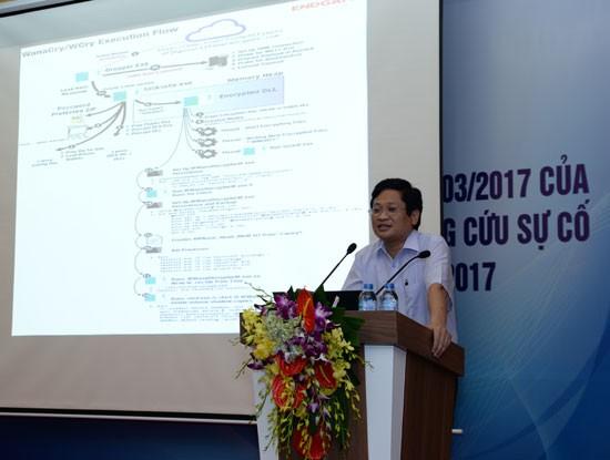 Ông Nguyễn Khắc Lịch, Phó Giám đốc VNCERT hiện Việt Nam chỉ còn vài trường hợp nhiễm mã độc tống tiền WannaCry chưa xử lý, khắc phục xong.
