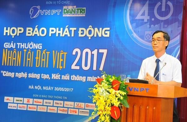 Ông Đỗ Vũ Anh - Thành viên hội đồng thành viên VNPT phát biểu tại buổi lễ.