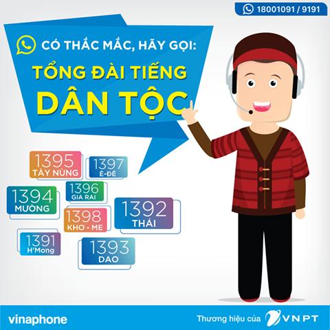VinaPhone triển khai Tổng đài tiếng dân tộc với 8 ngôn ngữ ảnh 1