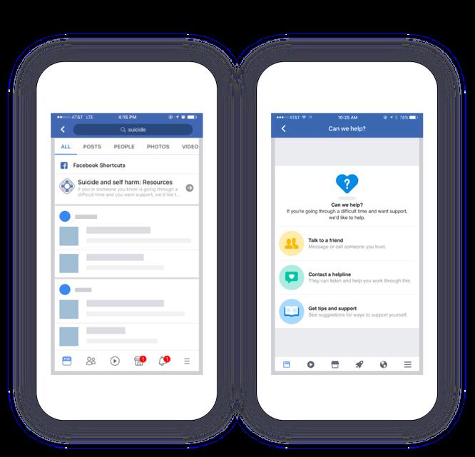Facebook giới thiệu các nhóm hỗ trợ và công cụ ngăn ngừa tự tử ảnh 1