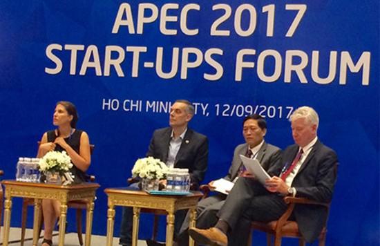 Diễn đàn khởi nghiệp APEC 2017 tập trung thảo luận những nội dung nhằm hỗ trợ và phát triển doanh nghiệp siêu nhỏ, nhỏ và vừa, đặc biệt là các doanh nghiệp khởi nghiệp (Nguồn ảnh: vov.vn)