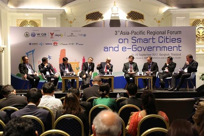 Diễn đàn Khu vực Châu Á - Thái Bình Dương lần thứ 3 về Thành phố thông minh và Chính phủ điện tử. Ảnh: K.L