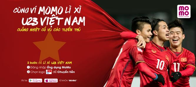 MoMo, Zalo Pay nhất loạt tổ chức hoạt động lì xì dành tặng U23 Việt Nam ảnh 1