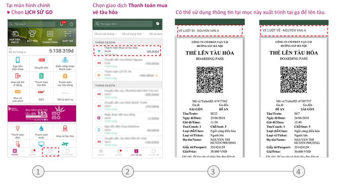 Hướng dẫn chi tiết cách mua và sử dụng vé tàu điện tử trên thiết bị di động ảnh 4