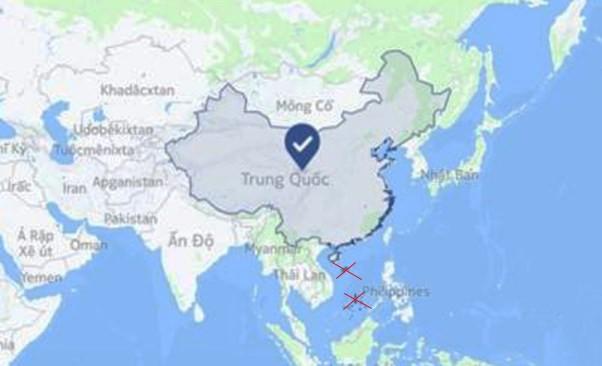 Facebook xác định sai lệch bản đồ quần đảo Trường Sa, Hoàng Sa