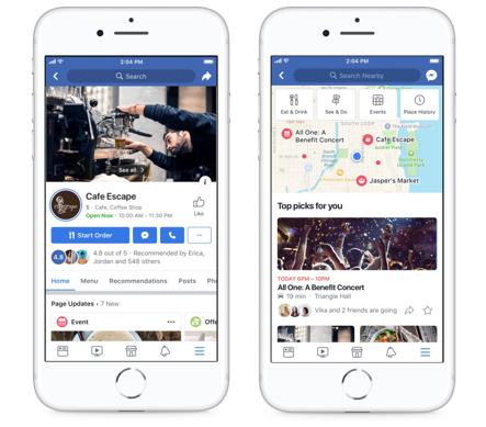 Người dùng có thể đặt chỗ từ ứng dụng Facebook trên di động ảnh 1