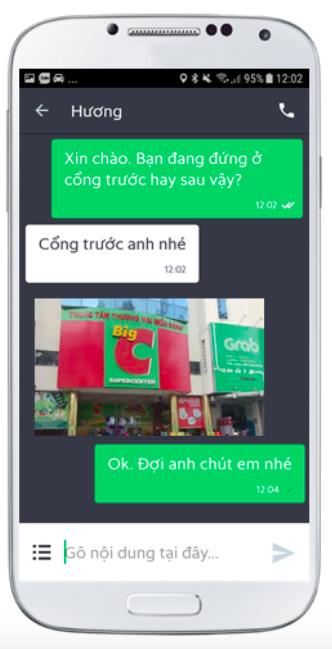 Grab thêm tính năng tin nhắn ảnh, giúp người dùng mô tả chính xác điểm đón ảnh 1