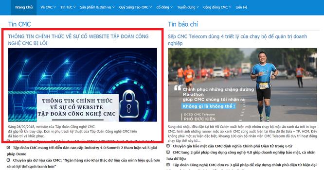 Thực hư chuyện website Tập đoàn Công nghệ CMC bị hacker tấn công ảnh 3