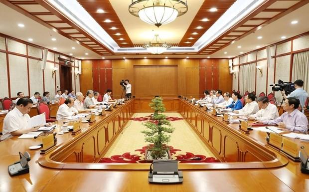 Toàn cảnh phiên họp của Bộ Chính trị.