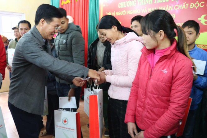 Cổng 1400 đi thăm và tặng quà Tết cho các hộ nghèo, các gia đình chính sách có hoàn cảnh khó khăn, nạn nhân chất độc da cam tại các tỉnh Lạng Sơn