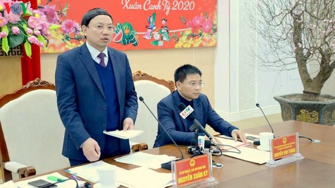 Ông Nguyễn Xuân Ký, Bí thư Tỉnh ủy, Chủ tịch HĐND tỉnh Quảng Ninh tại buổi họp trực tuyến chiều nay (28/1).