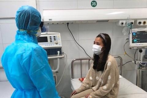 Nữ bệnh nhân N.T.T (25 tuổi, quê Yên Định, Thanh Hóa) đã ổn định sức khỏe và đang chờ kết quả xét nghiệm nCoV. (Ảnh: nguồn báo Thanh Hóa)
