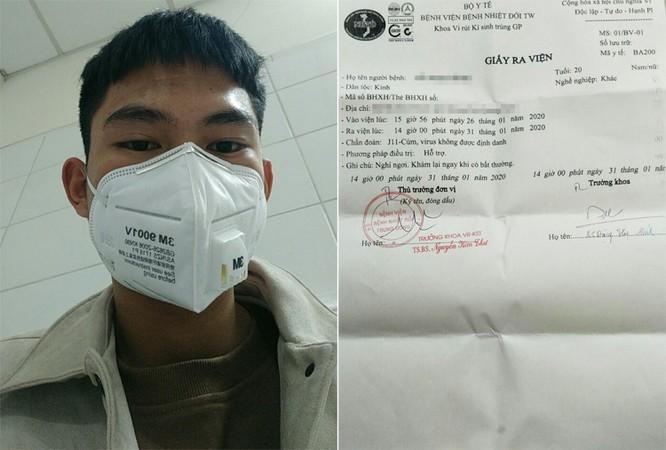 Minh Tuấn được chẩn đoán bị J11-cúm, virus không định danh, là bệnh cúmthường tự khỏi sau khoảng 3 ngày. Ảnh: NVCC.