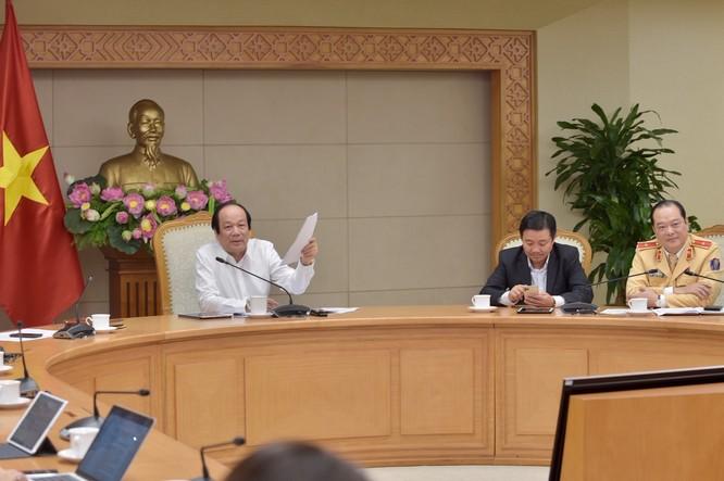 Bộ trưởng, Chủ nhiệm VPCP Mai Tiến Dũng phát biểu tại buổi làm việc. Ảnh: VGP