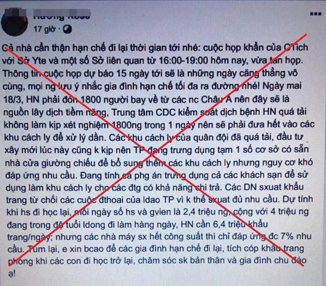 """Tung tin Hà Nội """"vỡ trận"""" chống COVID-19, hai thanh niên bị xử lý ảnh 1"""