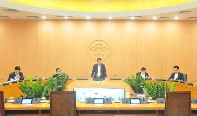 Chủ tịch UBND thành phố Nguyễn Đức Chung chủ trì cuộc họp