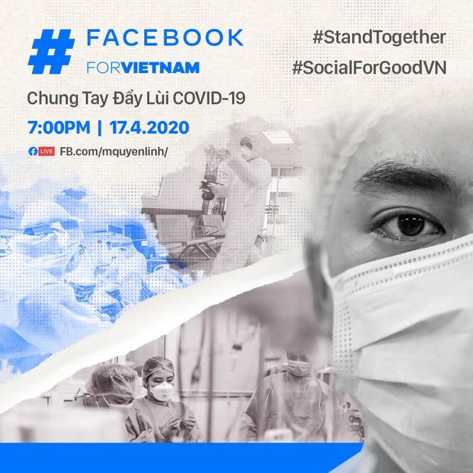 Quyền Linh, Hồng Vân, Xuân Bắc tham gia chiến dịch đẩy lùi COVID-19 của Facebook ảnh 1