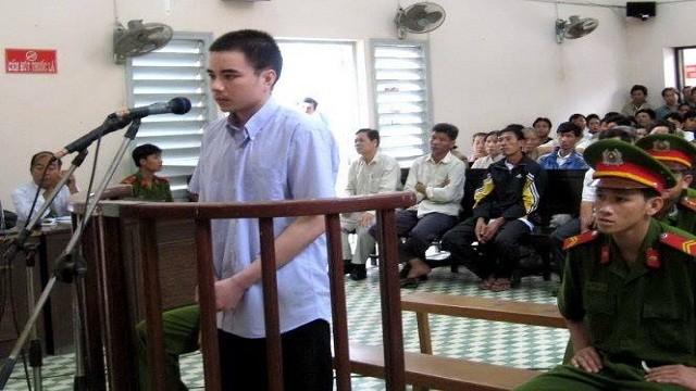Bị cáo Hồ Duy Hải tại phiên tòa phúc thẩm – Ảnh: Tư liệu Tuổi Trẻ