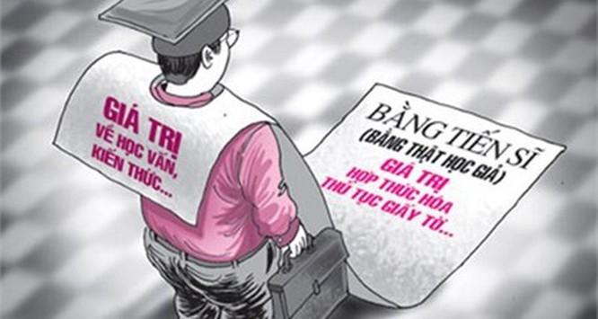 Xã hội trọng bằng cấp đã gây ra hàng loạt vấn đề nhức nhối như: mua bán bằng giả, chạy chọt trong thi cử để có tấm bằng chính quy loại khá, giỏi. Ảnh minh họa trên giaoduc.net