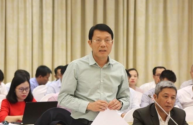 Thiếu tướng Lương Tam Quang trả lời tại buổi họp báo