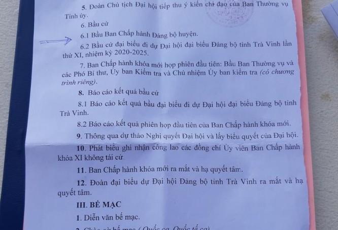 Chương trình Đại hội Đảng bộ huyện Càng Long