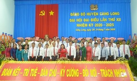 Ban chấp hành Đảng bộ huyện Càng Long nhiệm kỳ 2020 - 2025