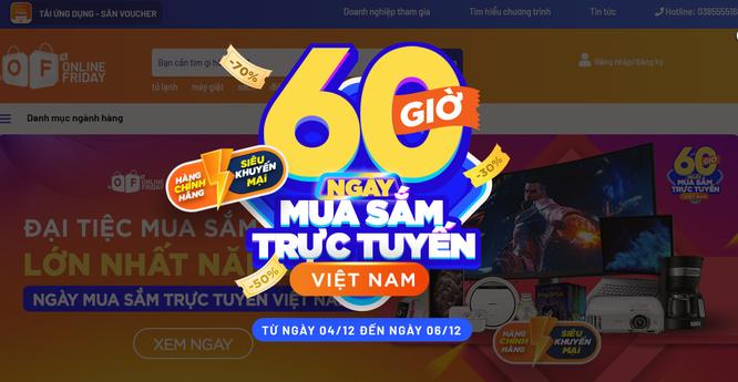 """4 ưu đãi hấp dẫn của """"60 giờ mua sắm trực tuyến Việt Nam 2020"""" ảnh 1"""