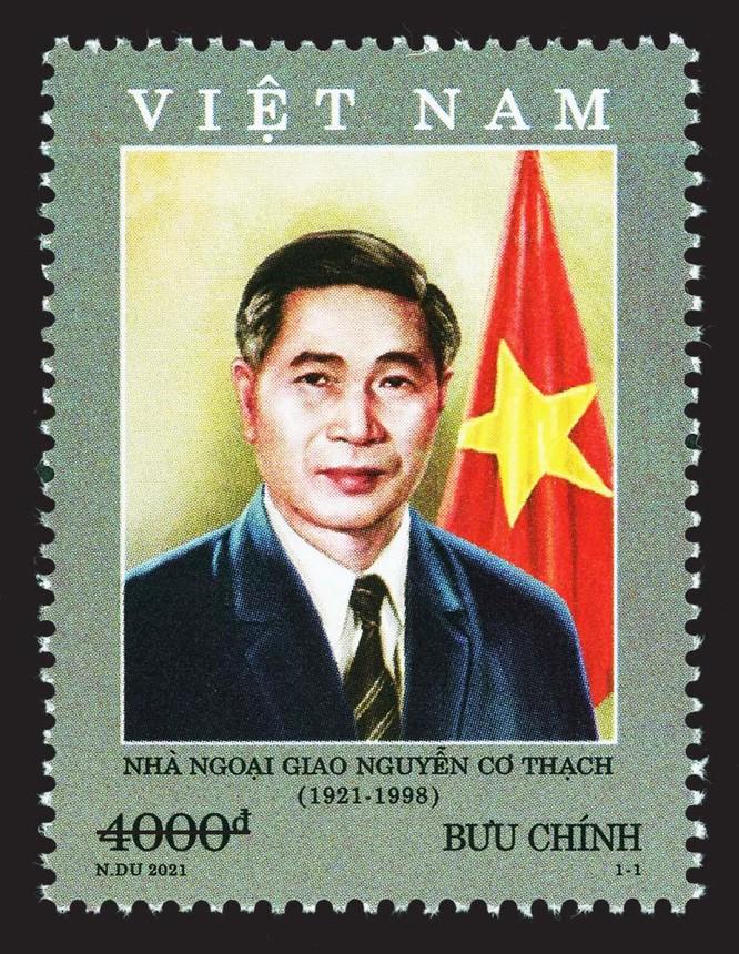 Phát hành bộ tem kỷ niệm 100 năm ngày sinh nhà ngoại giao Nguyễn Cơ Thạch ảnh 1