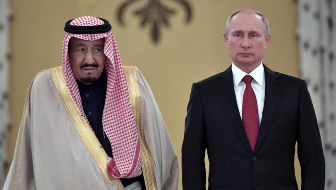 Tổng thống Putin đón quốc vương A rập Xê út tại Điện Kremlin trong chuyến thăm khiến thế giới sửng sốt