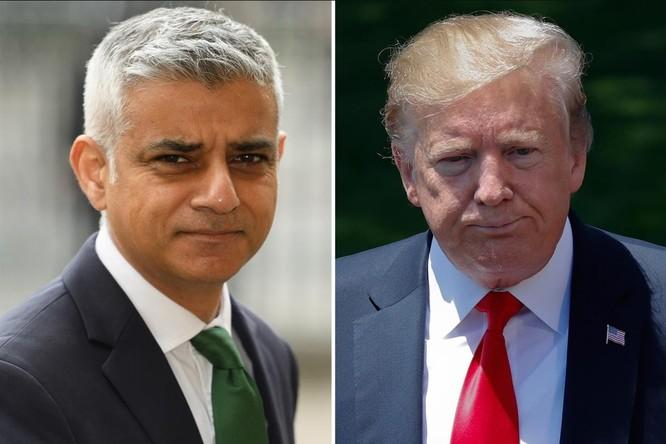 Thị trưởng Lon don Sadiq Khan công khai chỉ trích ông Trump (Ảnh: The Sun)