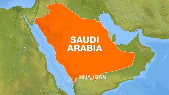 Vị trí tỉnh Najran nằm sát biên giới hai nước (Ảnh: Aljazeera)