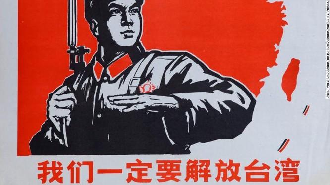 Một bức tranh cổ động cũ của Trung Quốc cùng dòng chữ
