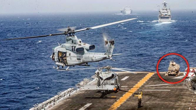 Hệ thống LMADIS trên tàu USS Boxer của Mỹ (Nguồn: The Drive)