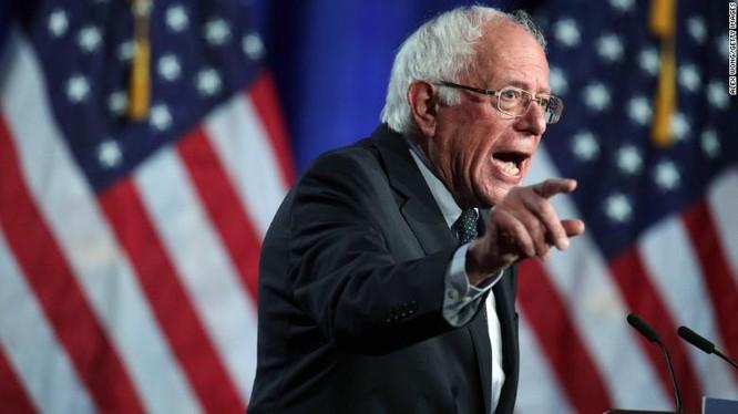 Ứng viên Tổng thống Mỹ của đảng Dân Chủ Bernie Sanders (Ảnh: CNN)