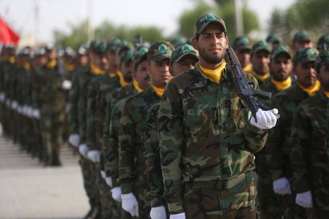 Các binh sỹ thuộc lực lượng PMF tại Iraq là một mục tiêu trong các đợt không kích của Israel (Ảnh: AFP)