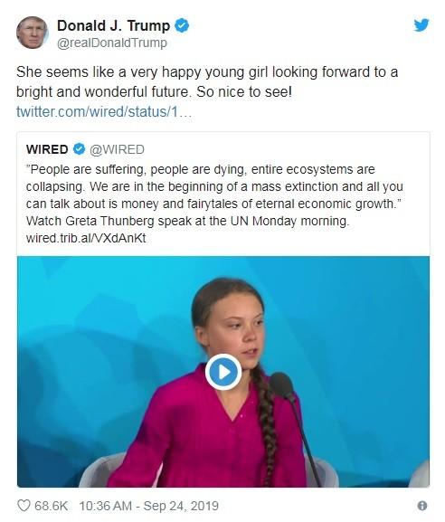 Đoạn tweet mà ông Trump đăng tải (Ảnh: CNA)