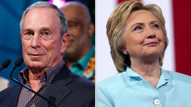 Tỷ phú Mike Bloomberg và bà Hillary Clinton có thể tham gia chạy đua bởi các ứng viên đảng Dân chủ không có cơ đánh bại ông Trump (Ảnh: Getty)
