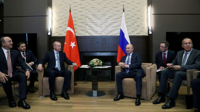 Lãnh đạo Nga, Thổ Nhĩ Kỳ đã đạt được thỏa thuận về Syria trong cuộc họp tổ chức tại khu nghỉ dưỡng Sochi (Ảnh: RT)