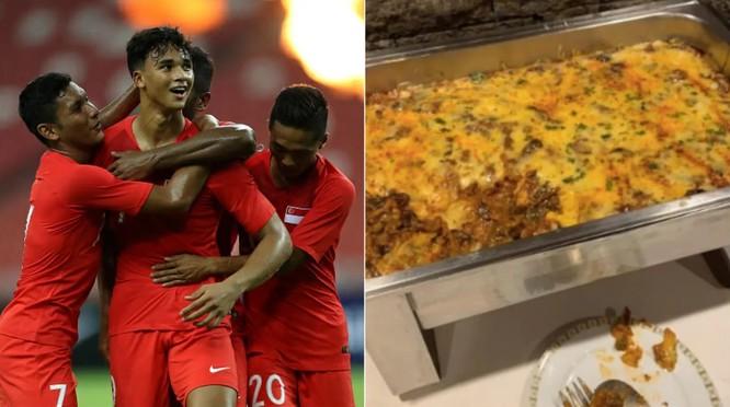 Đoàn Singapore gửi thư phàn nàn về khẩu phần ăn thiếu dinh dưỡng (Ảnh: Fox Sport)