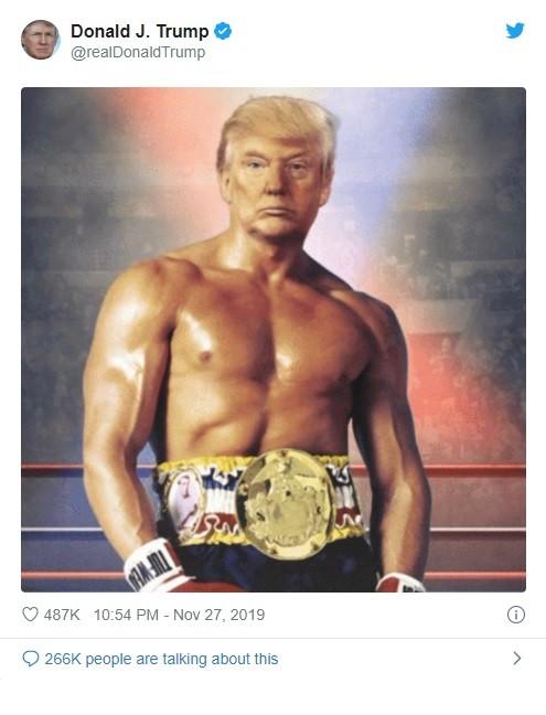 Bức ảnh được đăng tải trên tài khoản Twitter của ông Trump (Ảnh: Twitter)