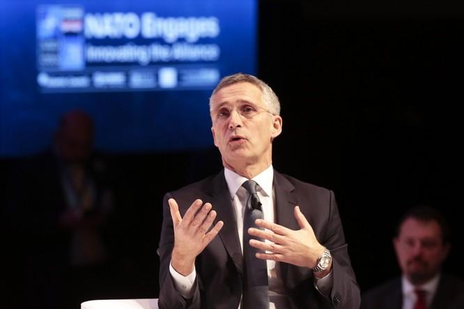 Tổng thư ký NATO Jens Stolenberg công nhận thách thức từ Trung Quốc (Ảnh: SCMP)
