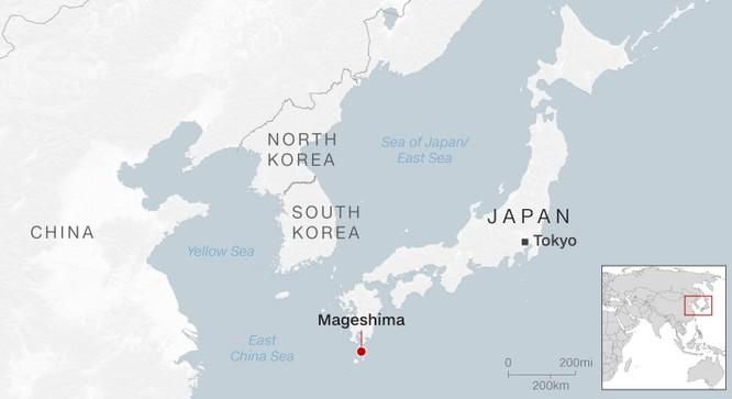 Vị trí của đảo Mageshima trên bản đồ (Ảnh: CNN)