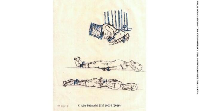 Một trong số những hình ảnh mô tả hình thức tra tấn dã man của CIA trong nhà tù Vịnh Guantanamo (Ảnh: CNN)