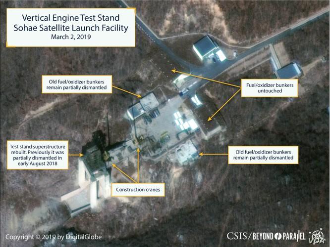 Ảnh chụp vệ tinh mới đây cho thấy Triều Tiên đang nối lại hoạt động tại bãi phóng vệ tinh Sohae (Ảnh: VOA)
