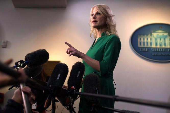 Bà Kellyane Conway khẳng định việc luận tội không có ý nghĩa gì với một đảng Cộng hòa đang cực kỳ đoàn kết (Ảnh: NYTimes)