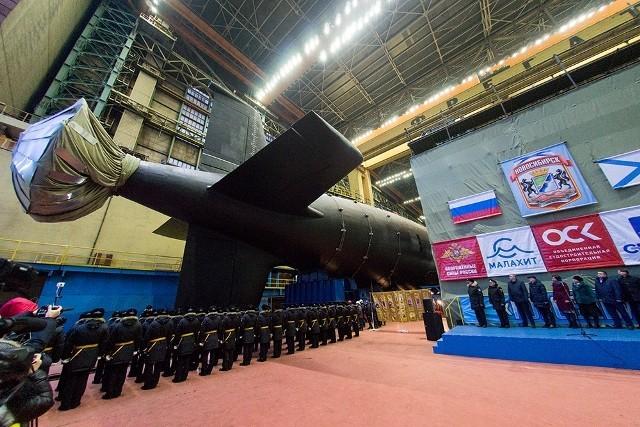 Novosibirsk là con tàu thứ hai lớp Yasen-M được hạ thủy (Ảnh: Getty)