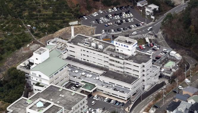 Bệnh viện Saiseikai Arida ở Yuasa, Nhật Bản, nơi có 1 vị bác sĩ được xác nhận nhiễm nCoV (Ảnh: Kyodo News)