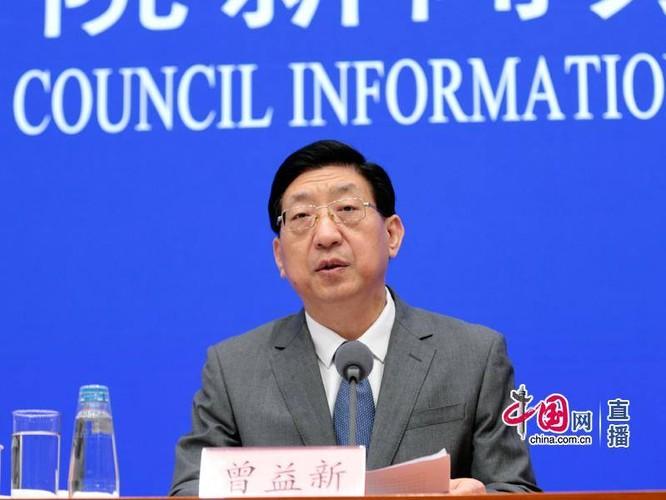 Ông Tăng Ích Dân trong buổi họp báo (Ảnh: China.com.cn)