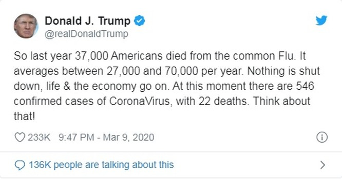 COVID-19 ở Mỹ: Tổng thống Trump xem nhẹ, giới chức xem nặng ảnh 2