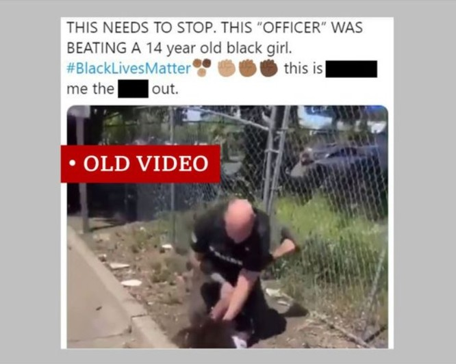 Đoạn video có cảnh một thiếu niên bị cảnh sát bắt giữ một cách bạo lực thực ra có từ hồi tháng 4, và ở bang California (Ảnh: BBC)